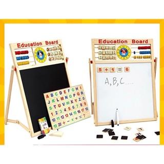 Bảng học ghép số và chữ 2 mặt bằng gỗ có năm châm