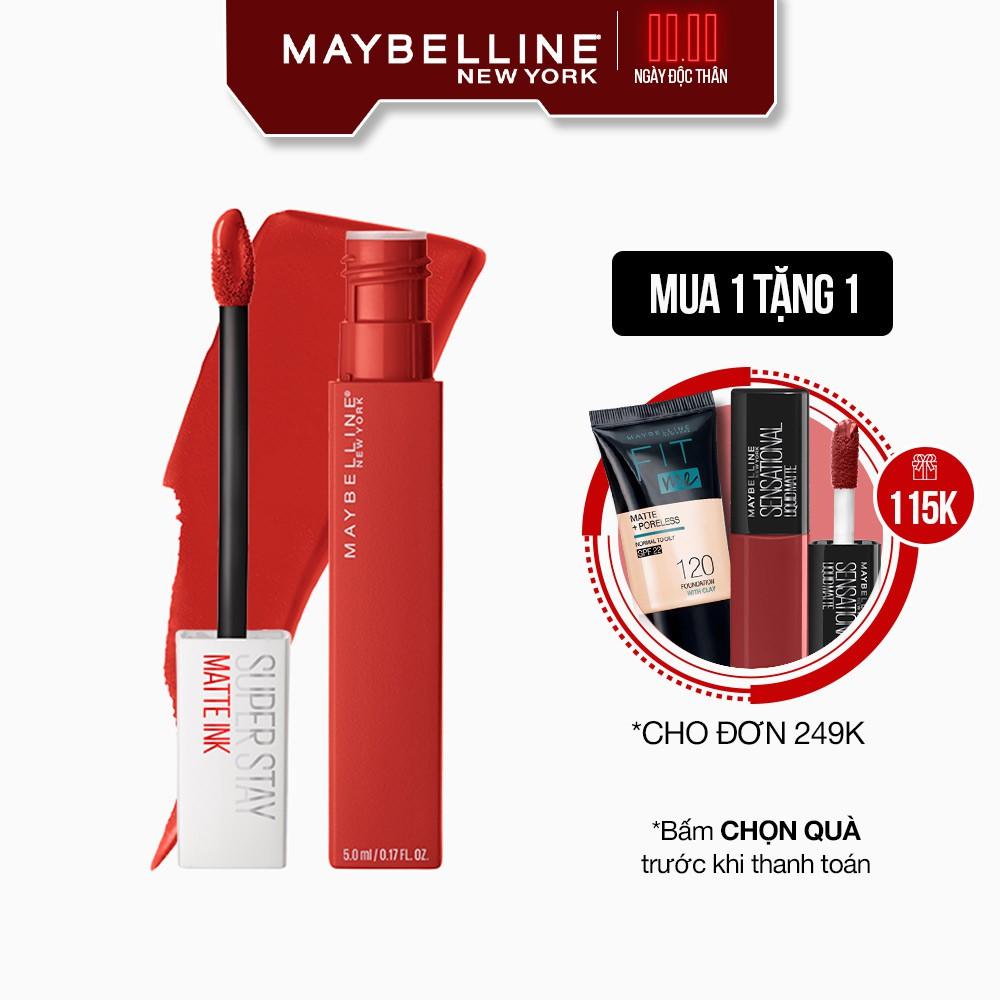 Son Kem Lì 16h Lâu Trôi Maybelline New York Super Stay Matte Ink Lipstick City Edition 5ml