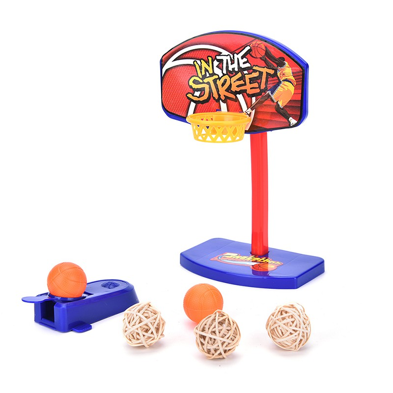 Baω Pet Bird Play Toy Parrot Basketball Hoop Trick Prop + 3pcs Bell Balls Brain Game ωby
