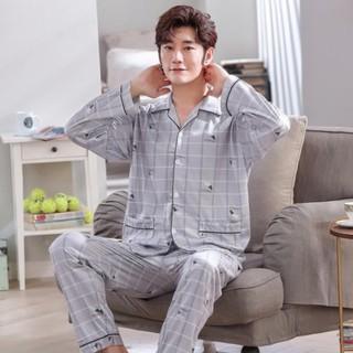 [Hàng order ] Đồ ngủ pijama nam tay dài cao cấp
