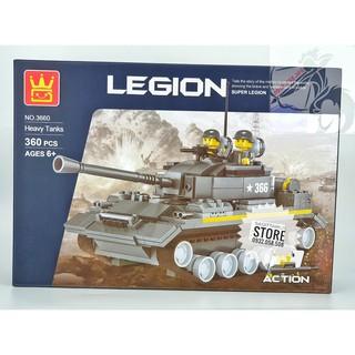 Lego Wange 3660 Lắp Ráp Xe Tăng Hạng Nặng – Heavy Tank ( 360 Mảnh )