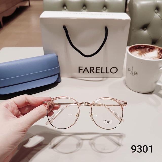 Gọng kính tròn, càng kim loại Hàn Quốc 9301