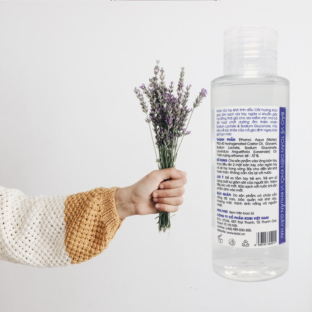 Nước rửa tay khô Kobi Hand Sanitizer Lavender 100ml
