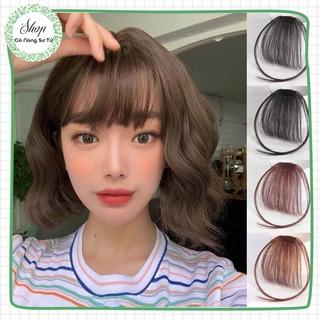 Tóc giả mái thưa có mai Hàn Quốc dáng phồng - tóc giả nữ siêu nhẹ, kẹp lưới tháo lắp dễ dàng - Cô nàng sư tử