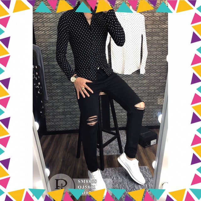 [HI]Quần jean đen trơn Hàn Quốc cao cấp[TH]