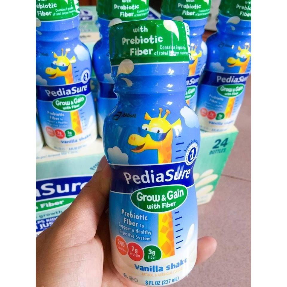 Sữa Pediasure Grow & Gain with Fiber dạng nước vị vani 237ml của Mỹ - 2661046 , 1230019718 , 322_1230019718 , 59000 , Sua-Pediasure-Grow-Gain-with-Fiber-dang-nuoc-vi-vani-237ml-cua-My-322_1230019718 , shopee.vn , Sữa Pediasure Grow & Gain with Fiber dạng nước vị vani 237ml của Mỹ