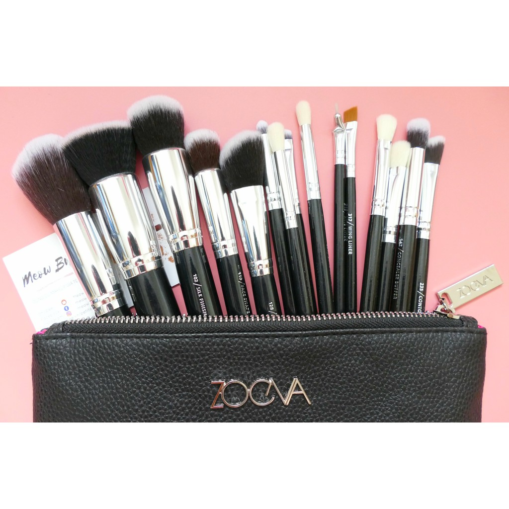 ZOEVA | Set Cọ Mix 15 cây Black & Silver (Complete Set) - 2403055 , 13594899 , 322_13594899 , 730000 , ZOEVA-Set-Co-Mix-15-cay-Black-Silver-Complete-Set-322_13594899 , shopee.vn , ZOEVA | Set Cọ Mix 15 cây Black & Silver (Complete Set)