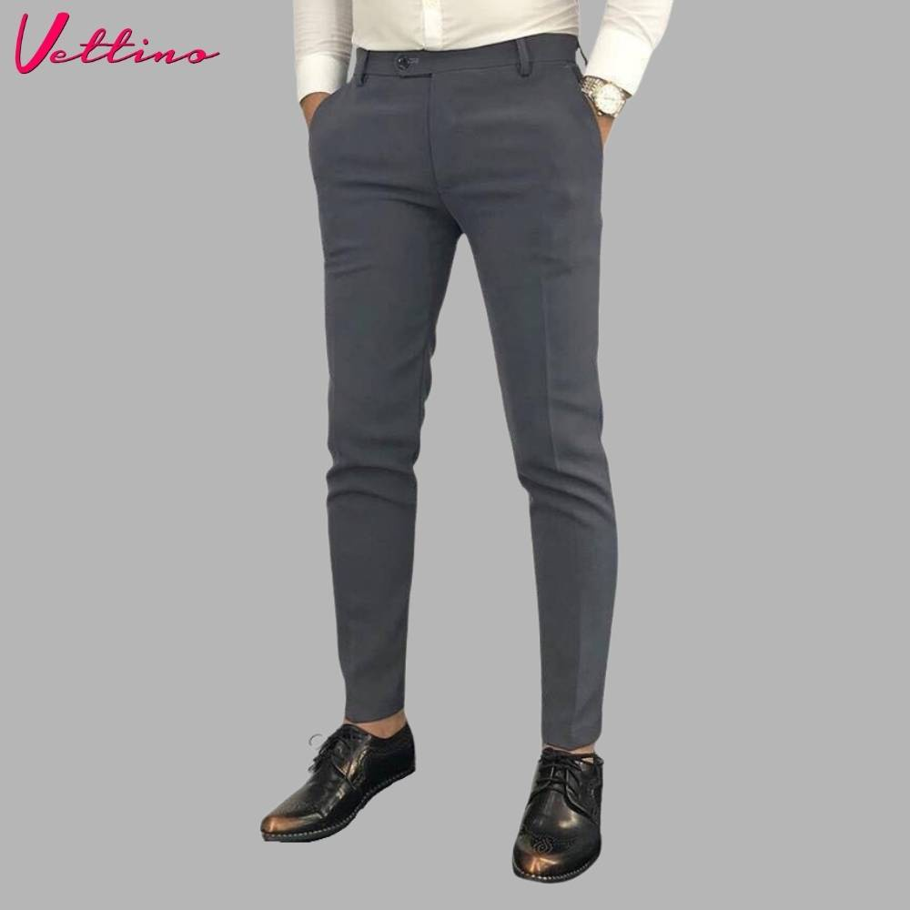 [Mã SKAMSALE10 giảm 10% đơn 200K] Quần âu nam đen , quần tây nam cao cấp dáng ôm body Hàn Quốc vải chống nhăn chống xù