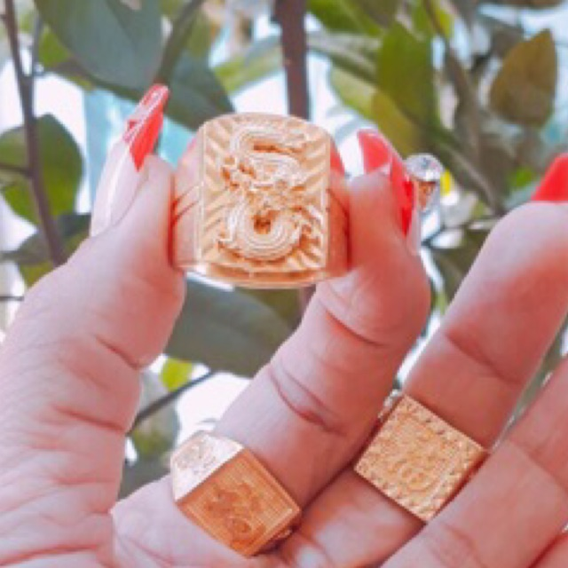 [SIÊU RẺ]Nhẫn vàng đồng,bền màu, kg