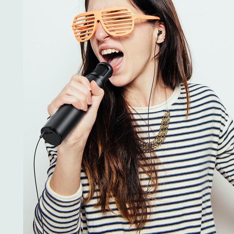 [Mã ELTECHZONE giảm 5% đơn 500K] Micro Bluetooth không dây Karaoke cao cấp PKCBK1 Chính Hãng