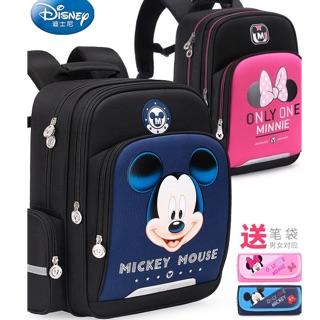 [HÀNG CHÍNH HÃNG DISNEY] Balo Mickey Mouse màu xanh đen 🎁 tặng kèm hộp bút cùng bộ 🎒🌟