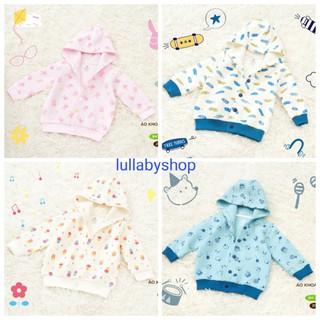 Yêu ThíchÁo khoác chần bông Lullaby NH125B, áo khoác có mũ bé trai, bé gái cao cấp