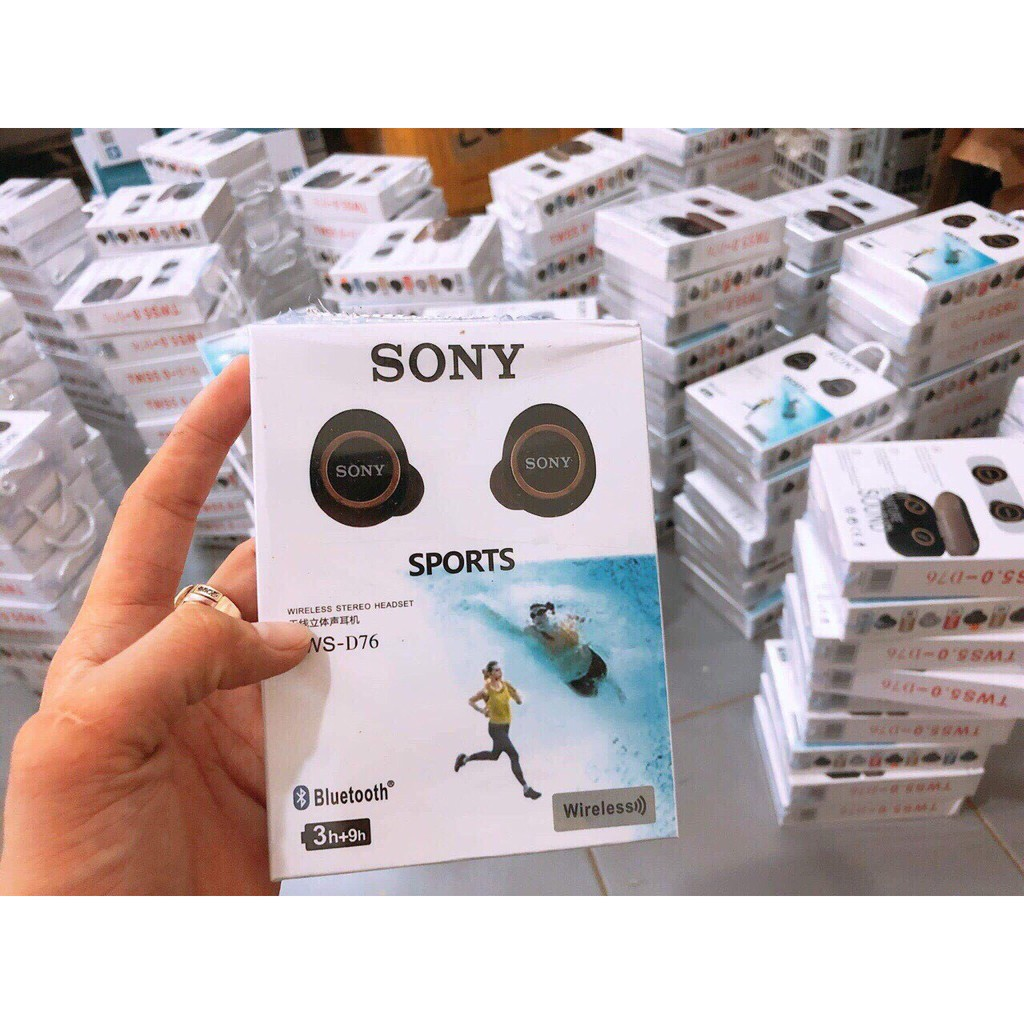 [ FREESHIP đơn từ 50k ] Tai nghe Bluetooth Sony sport TWS-D76 Bass-treble rõ ràng - lỗi 1 đổi 1 trong 15 ngày