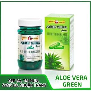 Viên uống dưỡng ẩm da, chống lão hóa và tái tạo da ALOE VERA Green- MediBeauty chai 60 viên - Linh Chi Pharmacy thumbnail