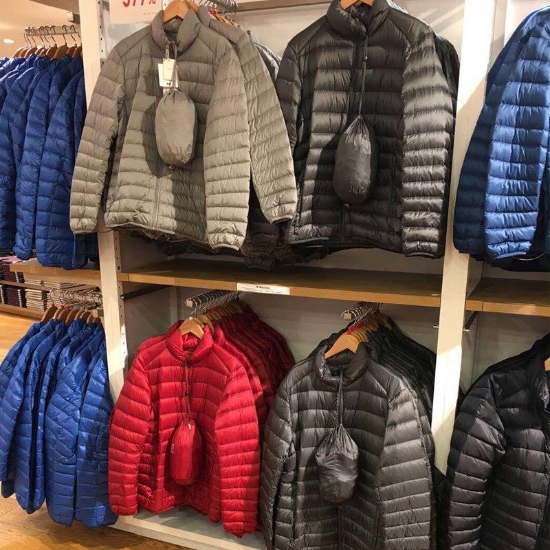 Áo khoác phao mỏng cổ đứng thời trang mùa đông cho nam