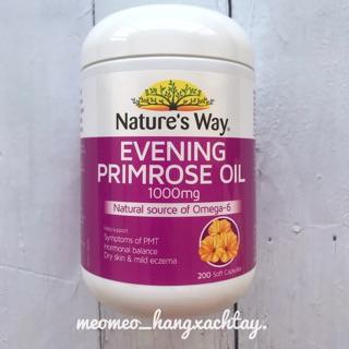 Viên uống tinh chất hoa anh thảo Nature s Way Evening Primrose Oil 1000mg 200 viên thumbnail