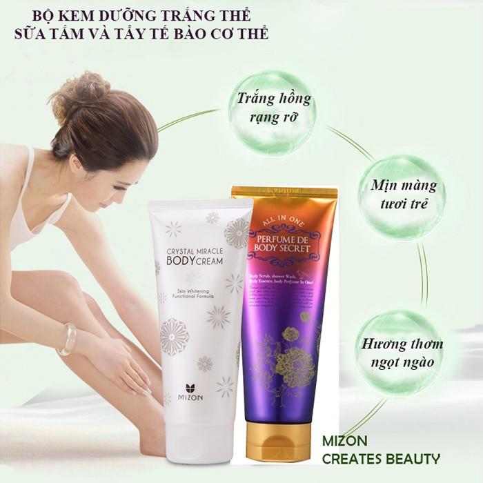 Kem dưỡng trắng da toàn thân Crystal Miracle Body Cream 200ml