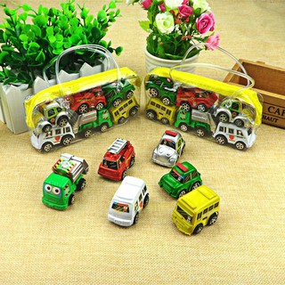 6pcs/Set Kids Children Nursery Pull Back Model Car Vehicle Educational Toy Gift