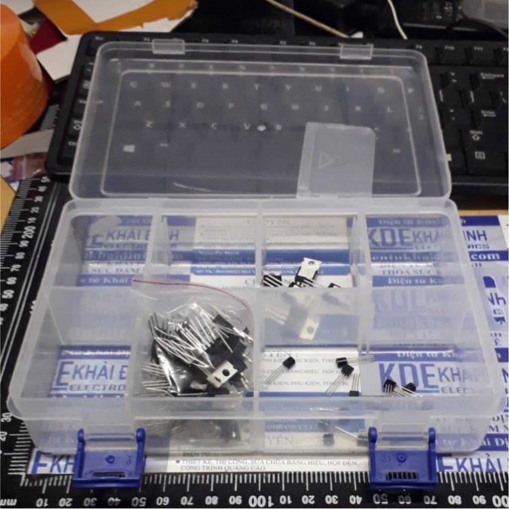 [FREESHIP 99K]_ hộp nhựa đựng linh kiện, ốc vít…10 ô, có thể thay đổi, 44x128x194mm kde4711 Giá rẻ.