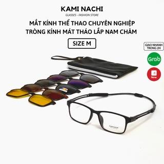 Gọng kính Thể Thao siêu nhẹ chịu lực có nam châm giữ cố định chống tuột KAMI NACHI size M [CÓ THỂ LẮP TRÒNG CẬN] thumbnail