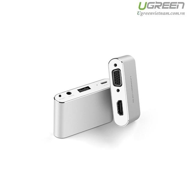 Bộ chuyển đổi cổng đa năng HDMI + VGA cho điện thoại , máy tính bảng chính hãng Ugreen 30522 cao cấp