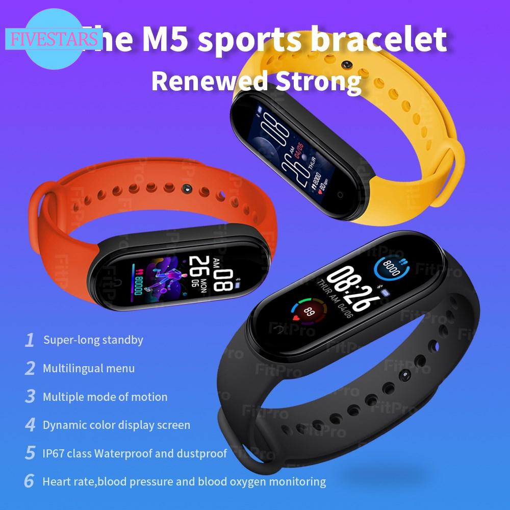 Đồng Hồ Thông Minh M5 Kết Nối Bluetooth 4.2 Hỗ Trợ Đo Huyết Áp Kèm Phụ Kiện