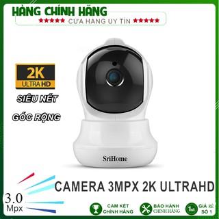 Camera srihome sh020 3mpx 1296p siêu nét – xoay 360 độ – đàm thoại 2 chiều