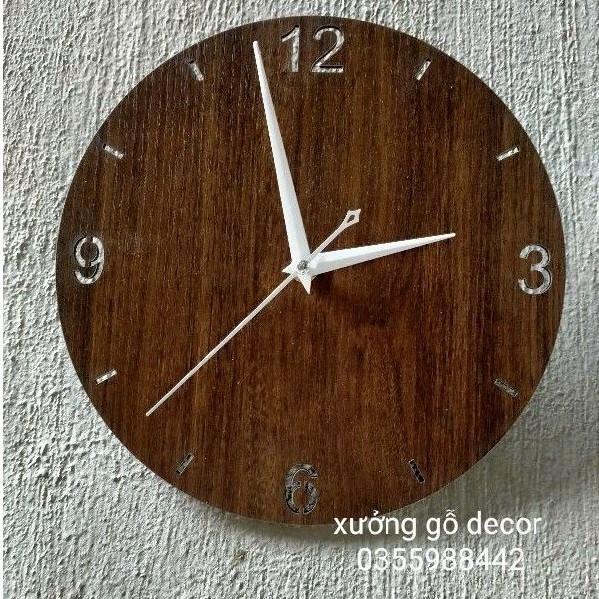 [ Siêu Rẻ] Đồng Hồ Treo Tường Phong Cách MDF03