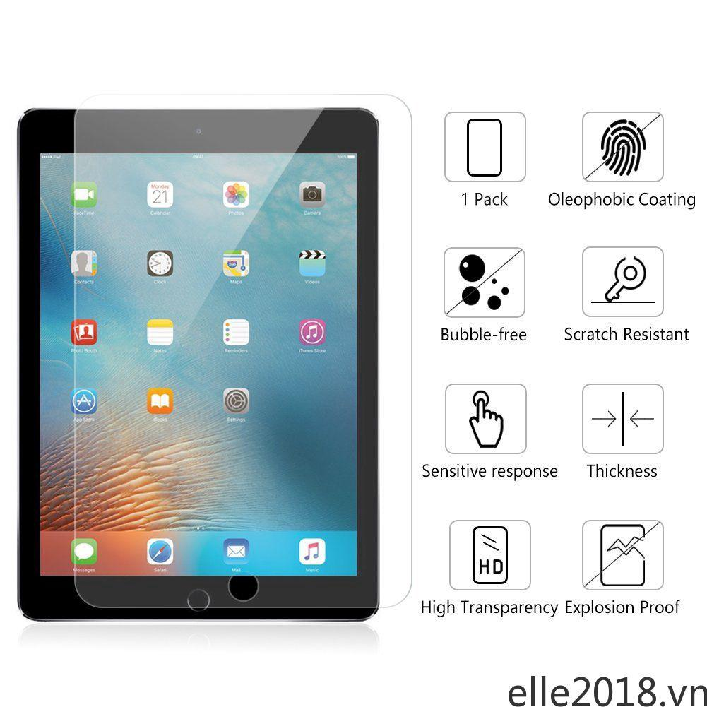 For iPad Pro 9.7 2017 Anti-knock Screen Protector Clear Film Tempered Glass ELLE