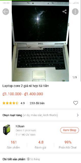 Laptop core 2 giá rẻ hợp túi tiền