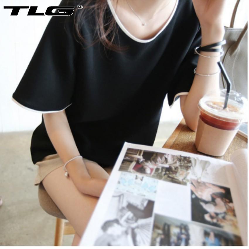 Áo thun nữ ngắn tay phong cách Hàn Quốc  TI 352 2(đen) tặng 01 bút bi cao cấp TI M 410