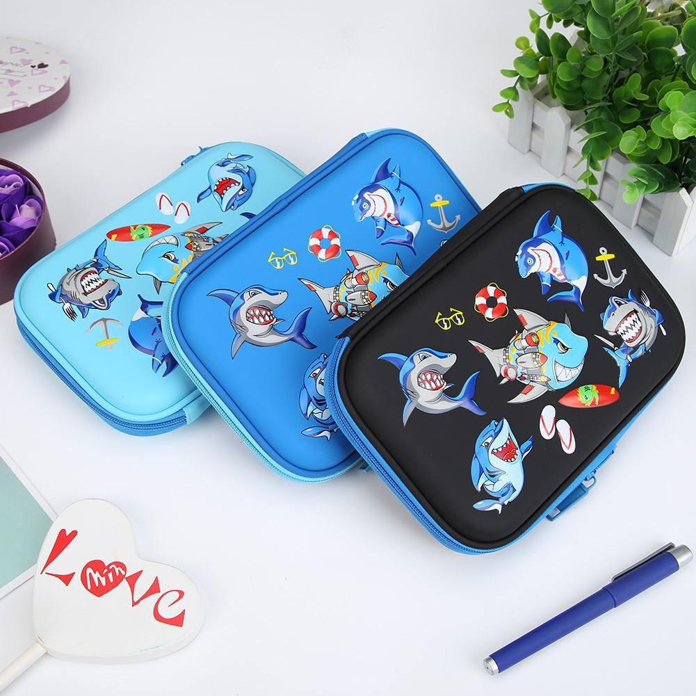 Pencil Case Cartoon Ocean Students Pencil Bags JK Home&Living Big Capacity EVA School Pencil Case