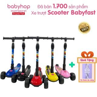Xe trượt Scooter Babyfast Babyhop an toàn cho bé 3 bánh to phát sáng vĩnh cửu chịu lực 80kg thumbnail