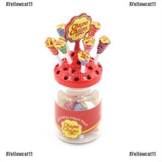 AYellowcat 1:12 Dollhouse Miniature Simulation Food Mini Lollipop With Case Holder