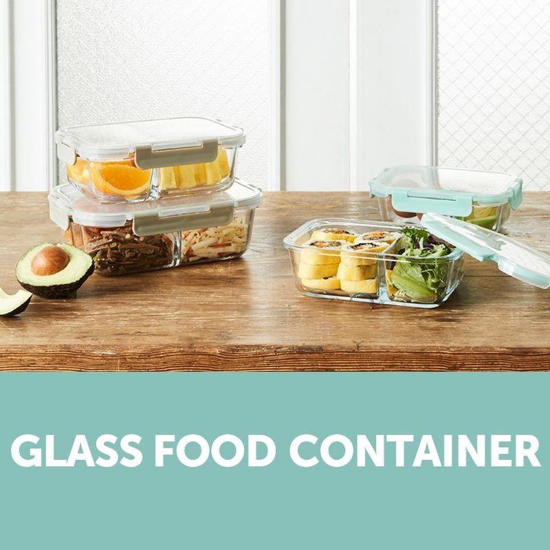 Hộp thủy tinh chia 2 ngăn, 3 ngăn chịu nhiệt Lock&Lock Glass Food Container LLG456 [600ML] LLG457 [860ML] LLG458 [1040ML