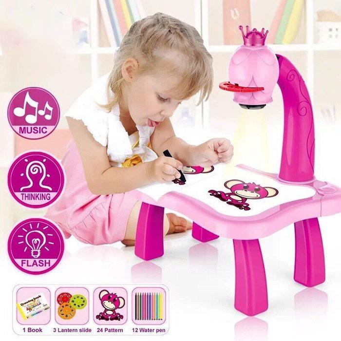 Bộ bàn đèn🎄 thông minh chiếu hình tập vẽ cho bé học vẽ