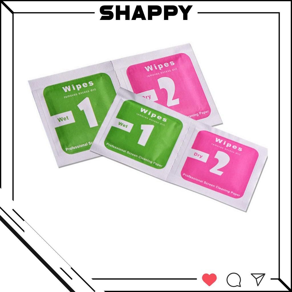 Bộ Khăn Lau Mini Ướt - Khô Hỗ Trợ Dán Cường Lực & Skin Dán Các Loại [Shappy Shop