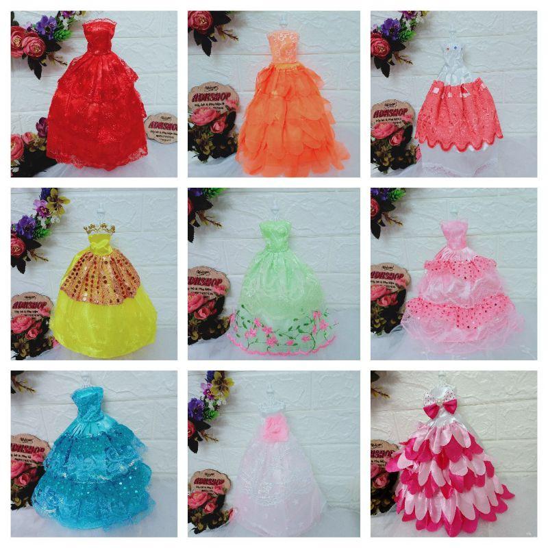 Váy Búp Bê Barbie 30cm Các Mẫu Dạ Hội