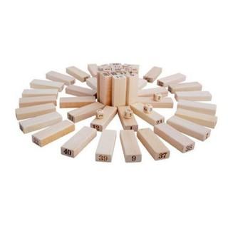Đồ chơi thông minh Freeship Rút gỗ số thông minh 48 thanh loại to – Domino gỗ cho bé