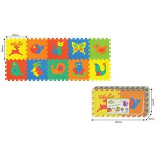Đồ chơi trẻ em thảm xốp ghép hình động vật 10 tấm PAMAMA P0302