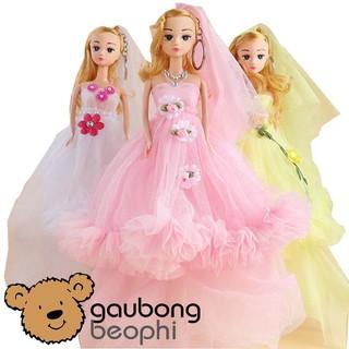 [HOT]Búp bê barbie nhựa mặc váy nhiều màu, hàng nhập cao cấp dành cho các bé- GBBP