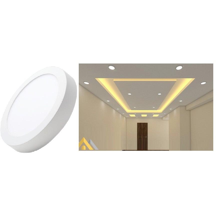 Đèn ốp trần nổi 12W TRÒN- ĐƯỜNG KÍNH 16CM sáng trắng