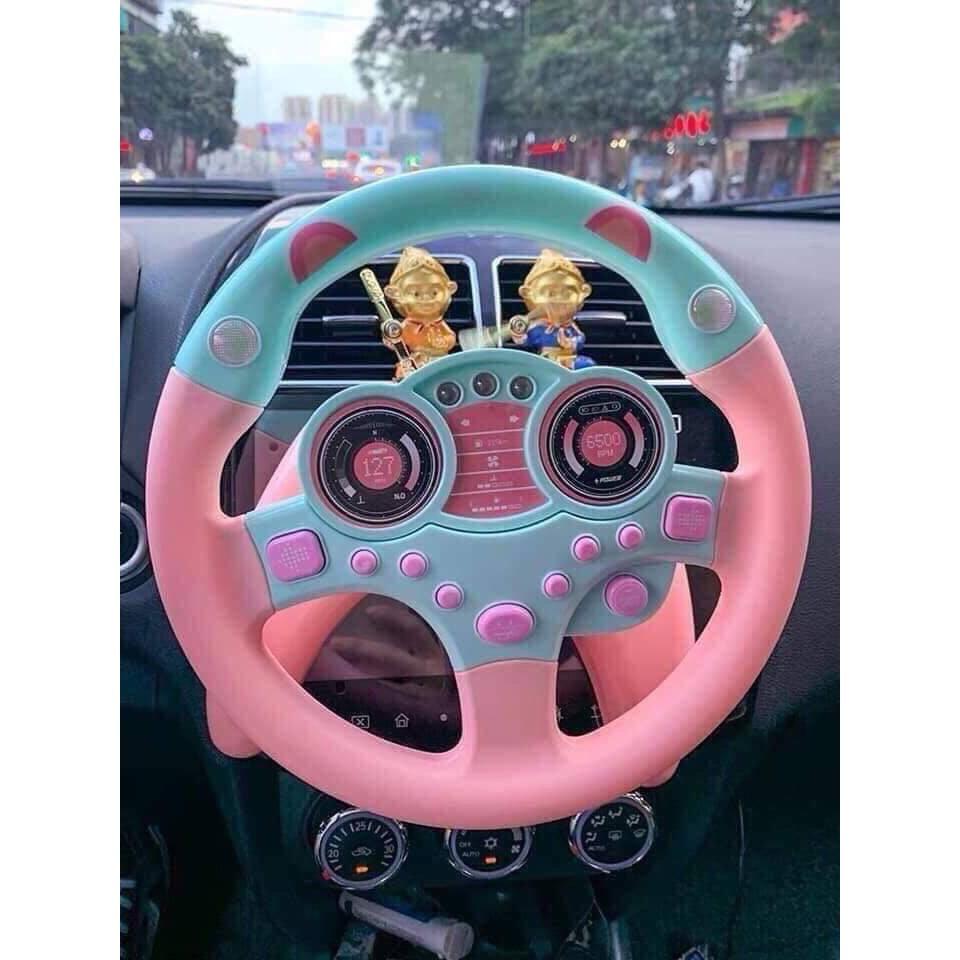 Vô lăng đồ chơi cho bé có thể gắn trên bàn hoặc để trên ghế, ô tô cho bé chơi