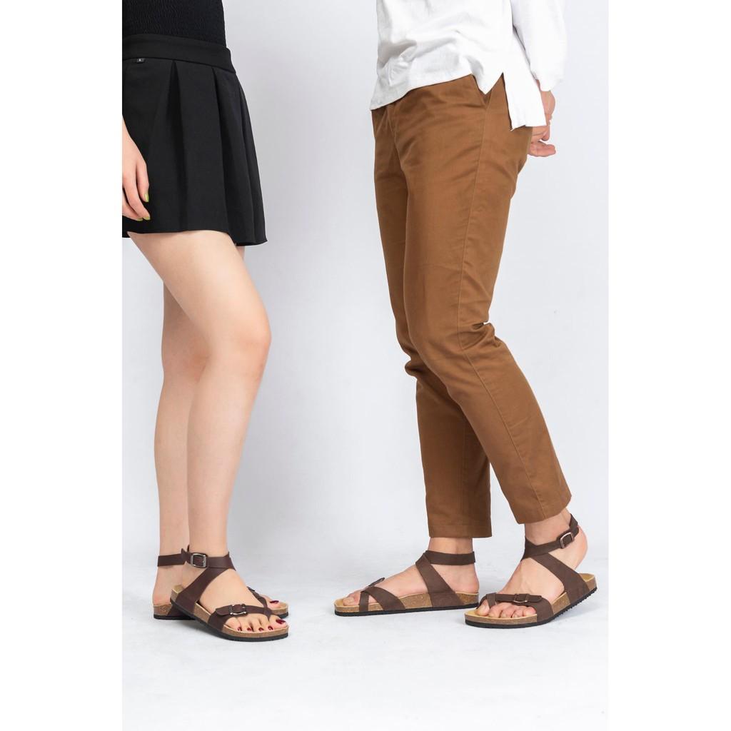Giày quai hậu sandal da bò unisex xuất khẩu châu âu mã D16