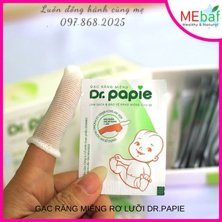 Gạc Răng Miệng Rơ Lưỡi Dr.Papie Làm Sạch Răng Miệng Cho Bé thumbnail
