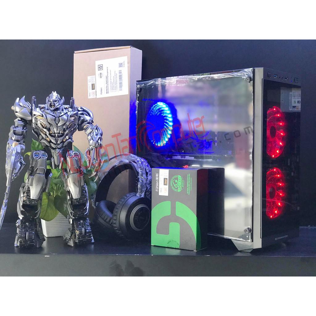 [PC GAMING] I3 9100F/RAM 8GB/240GB/500W/GTX1050Ti 4GB/CASE SCORPIO HAI MẶT CƯỜNG LỰC HOT 2019 Giá chỉ 9.800.000₫