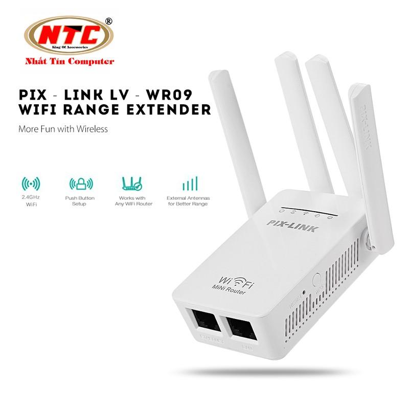 Thiết bị kích sóng wifi kiêm chức năng router PIX-LINK WR09 chuẩn Wireless-N (Trắng)