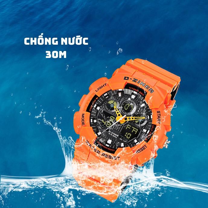 Đồng Hồ Điện Tử Thể Thao Nam D-ZINER 8185 Chính Hãng Chống Nước Tuyệt Đối 30M Kèm Hộp
