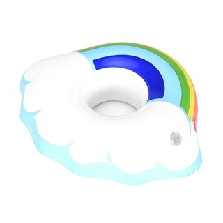 SOME Inflatable Water Floating Drink Cup Holder Seat Beach Swimming Floating