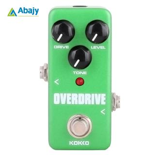 KOKKO FOD3 Mini Overdrive Electric Guitar Effect Pedal Portable True Bypass Aluminium Body Tube